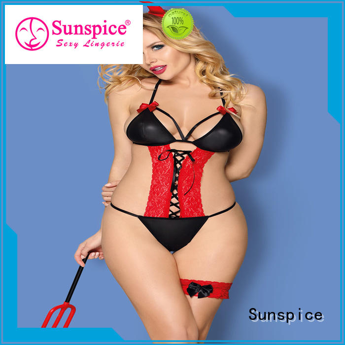 Sunspice high quality sexy devil angel costume suitable for adults