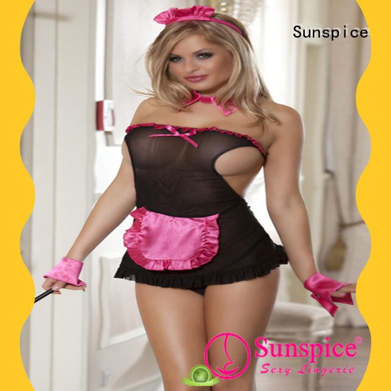 Sunspice naughty french maid lingerie idea for female