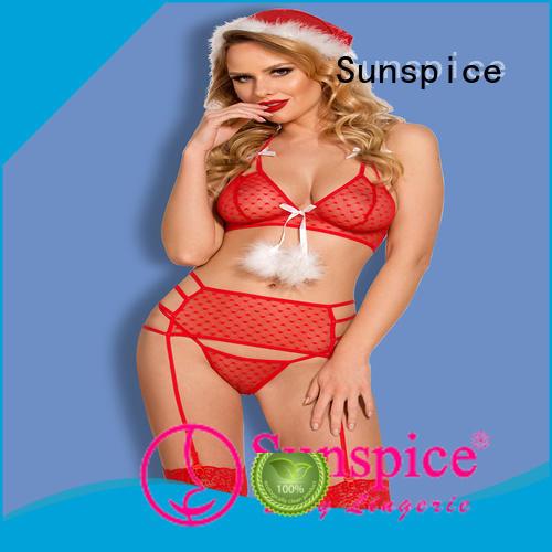 Sunspice sexy santa lingerie set ladies