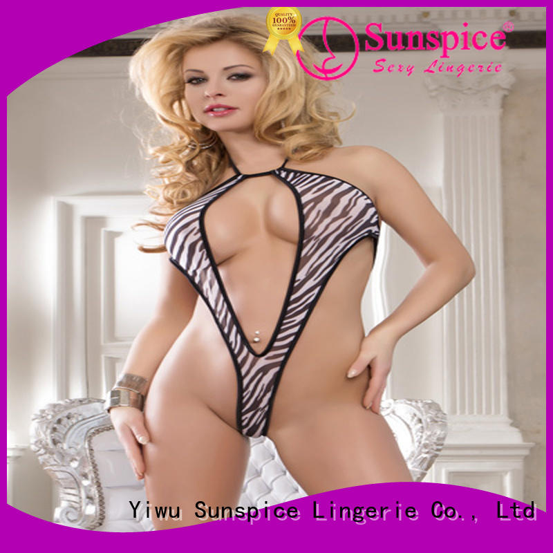 Sunspice lace plunge teddy suitable for women