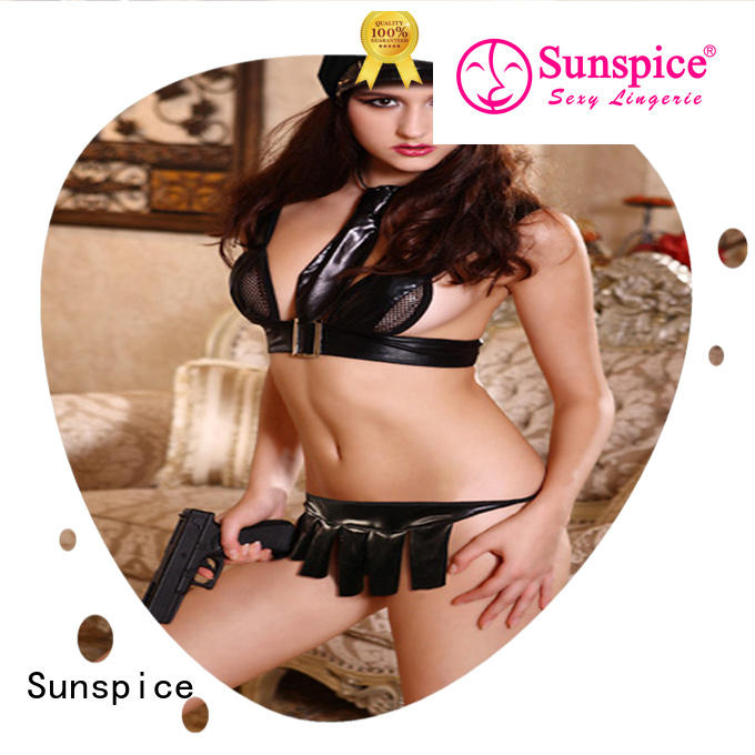 Sunspice beautiful sexy police officer costume chose for female
