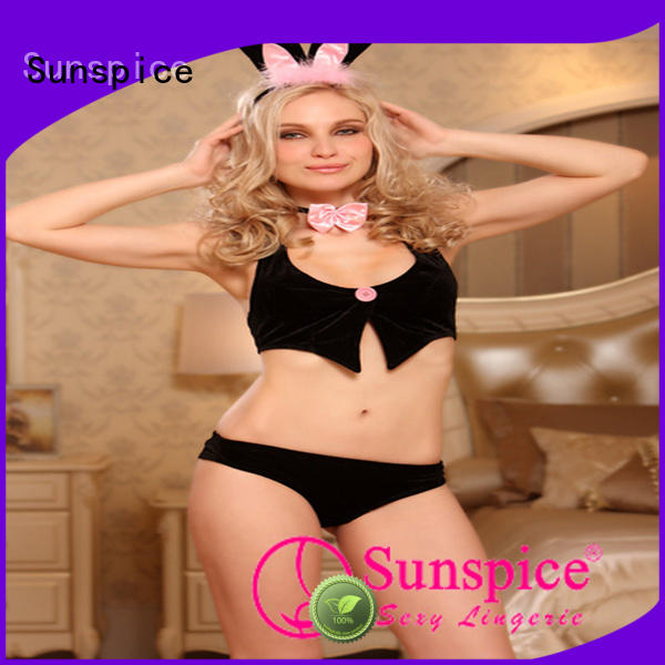 Sunspice good quality sexy bunny girl costume chose for female