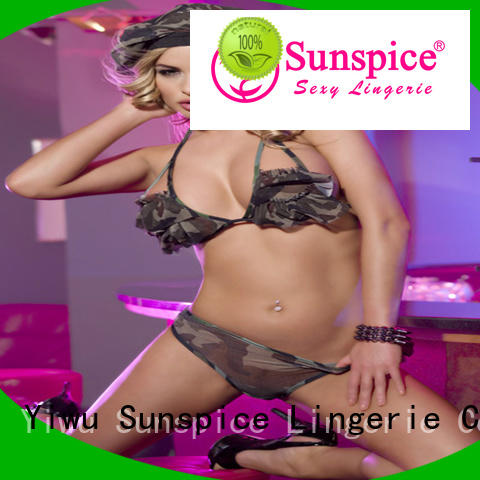 Sunspice beautiful sexy soldier costume chose for ladies