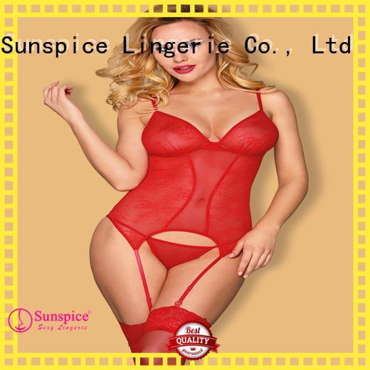 Sunspice 3111031110c bodysuit garter belt for business for women