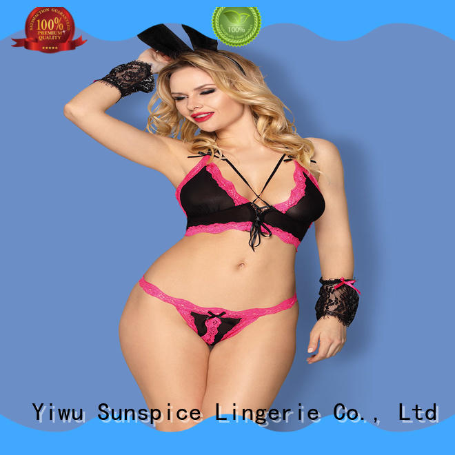Sunspice Latest sexy bunny lingerie suppliers for women