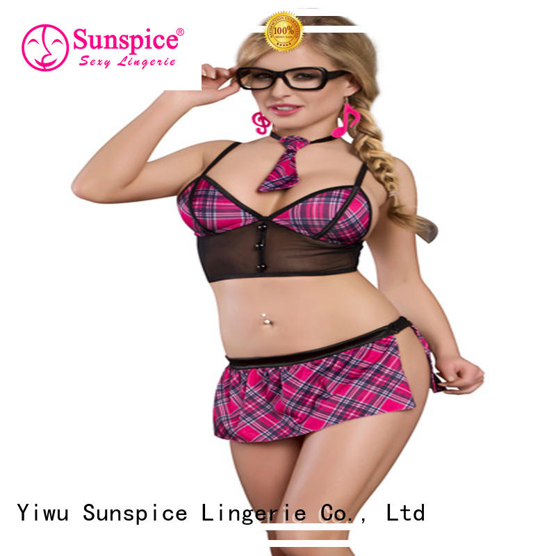 Sunspice good quality school girl costume lingerie suitable for adults