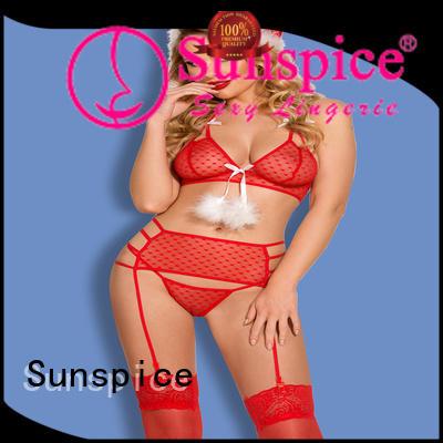 Sunspice beautiful xmas bow lingerie adults