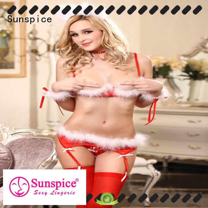 Sunspice good quality santa babydoll lingerie chose for female