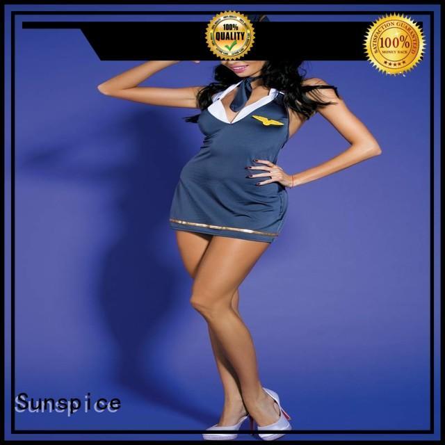 Sunspice stewardess sexy stewardess dress supply for female