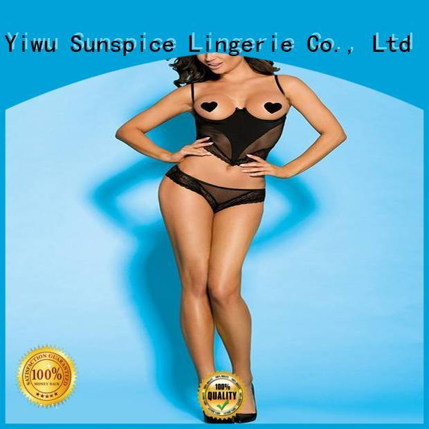 Sunspice New crotchless one piece lingerie suppliers for ladies