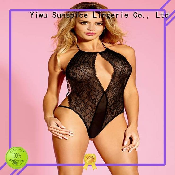Custom teddy negligee lingerie manufacturers for female