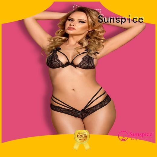 Sunspice lingerie crotchless womens lingerie supply for female