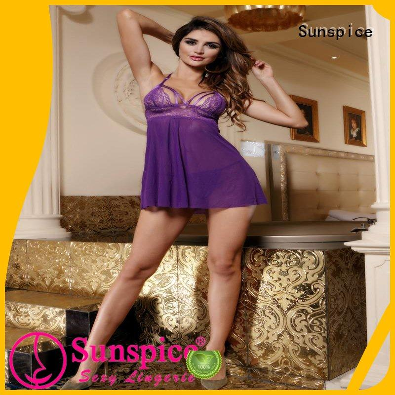 Sunspice Latest cheap babydoll lingerie factory for female
