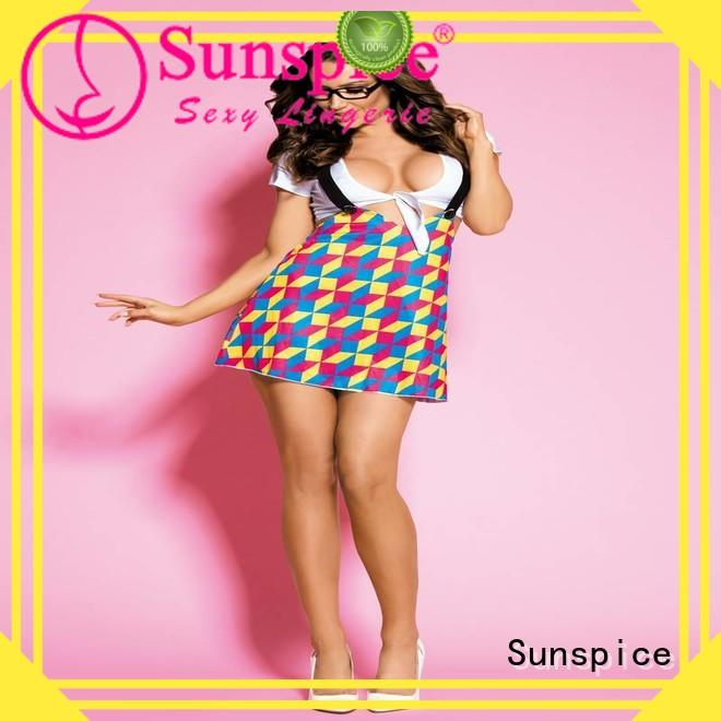 Sunspice costume school girl outfit lingerie company for female