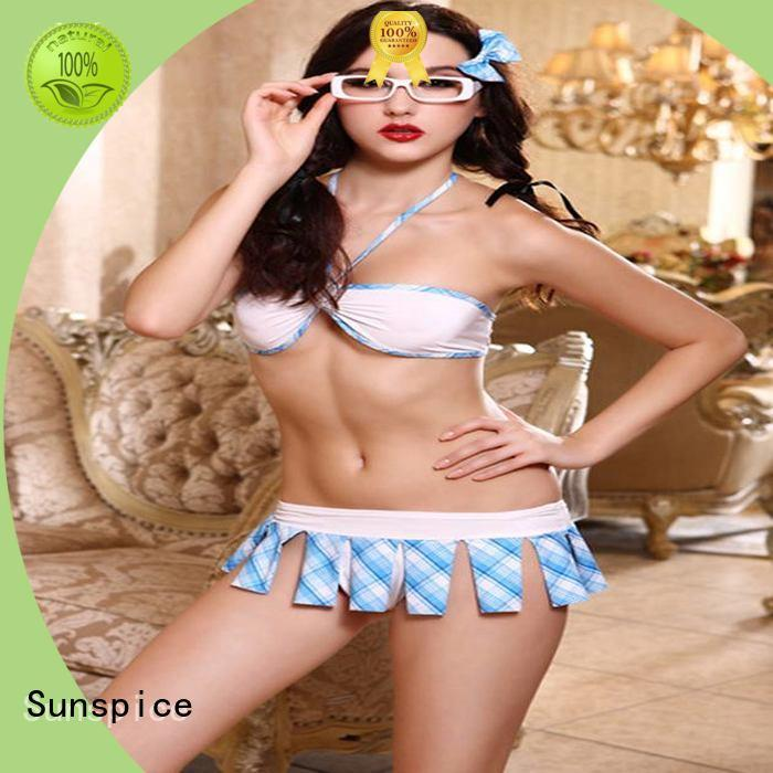 Sunspice Latest sexy school girl costume factory for ladies