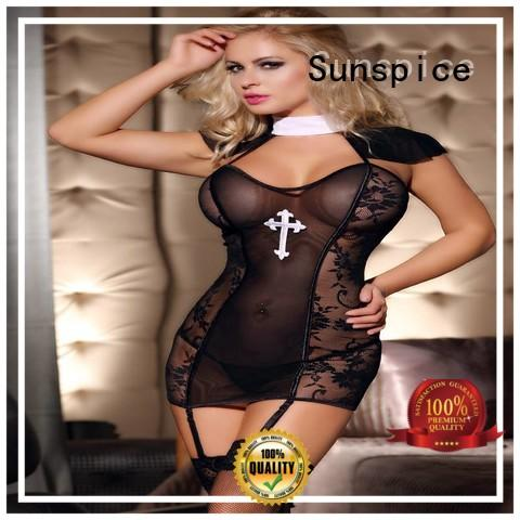 Sunspice costume cheap sexy nun costume for sale for ladies
