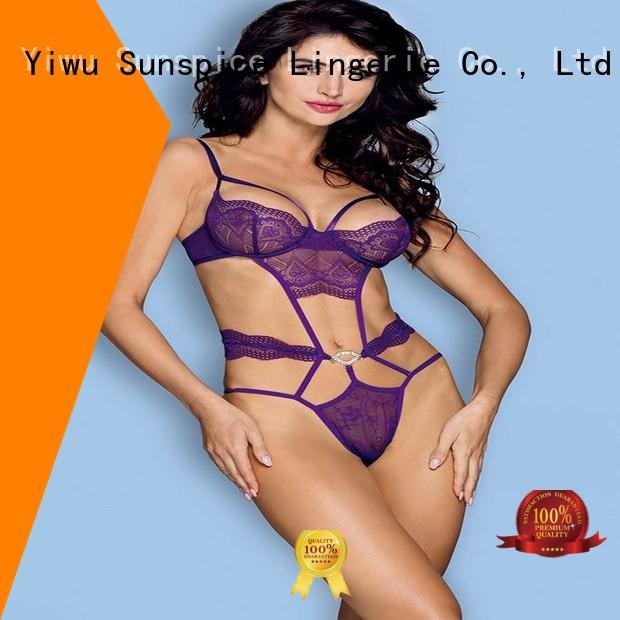 Sunspice Wholesale underwire teddy factory for women