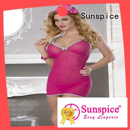 Sunspice costume sexy stewardess lingerie manufacturers for female