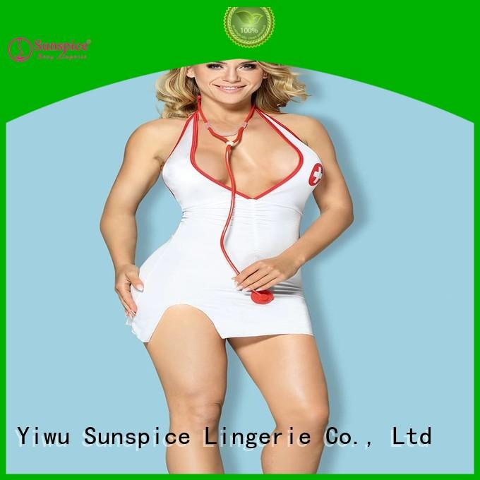 Sunspice Custom sexy nurse outfit halloween manufacturers for female
