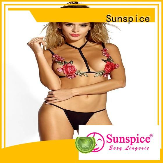 Sunspice Top garter belt lingerie set manufacturers for women
