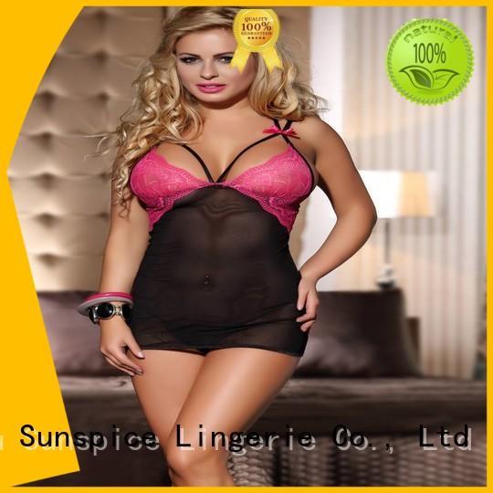 Sunspice lingerie baby doll chemise for business for female