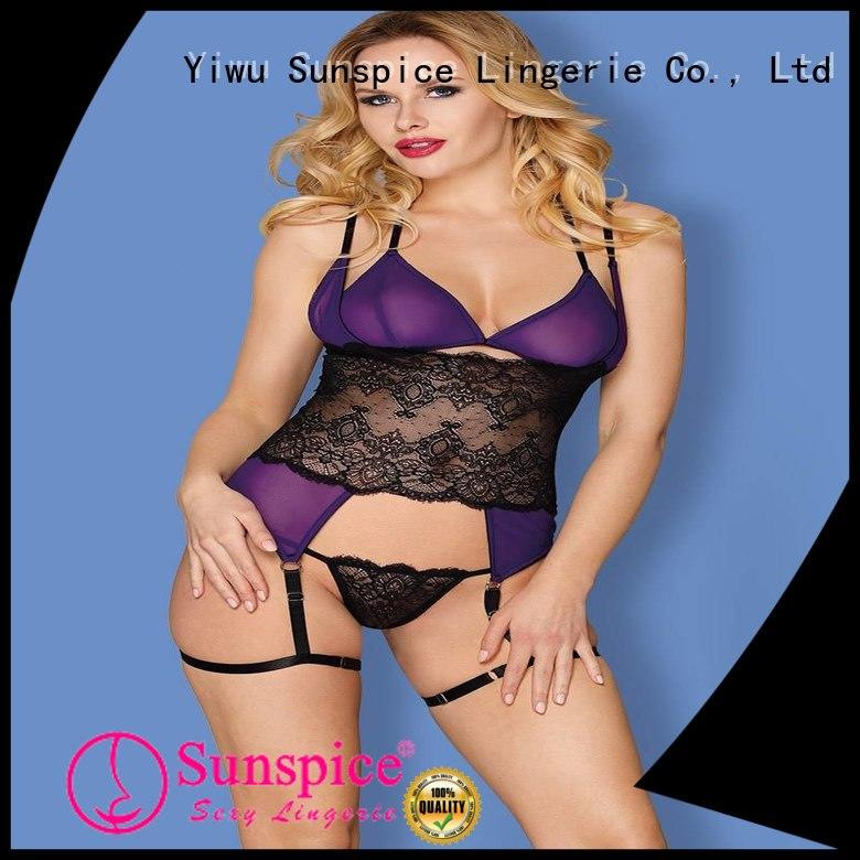 Sunspice blue lingerie set idea for female